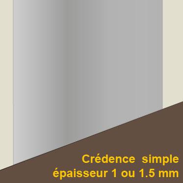 Cr dence miroir cr dence inox bross cr dence inox patin for Credence inox brosse sur mesure