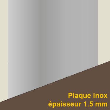 Plaque de protection mur et sol for Plaque inox protection mur cuisine
