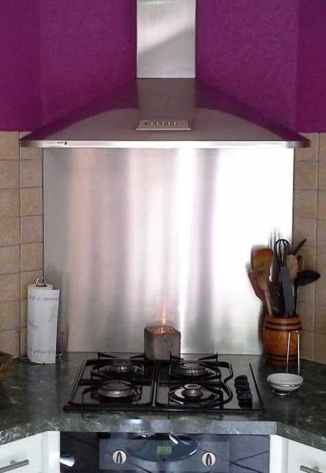 Photos cr dences inox r alisation de cr dences plaques - Plaque de protection murale pour cuisine ...