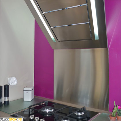 Plakinox photos cr dences inox r alisation de for Credence de cuisine inox